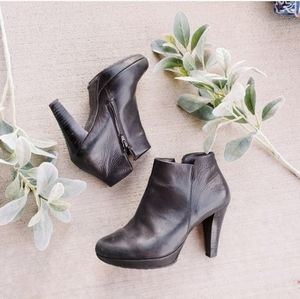Paul Green Soft Black Leather Fall Booties